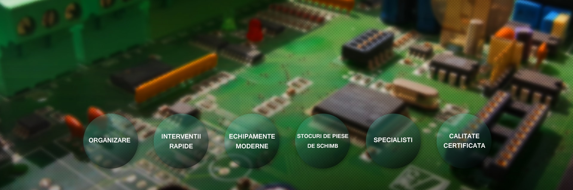 o placa electronica defecta sau un motor stricat